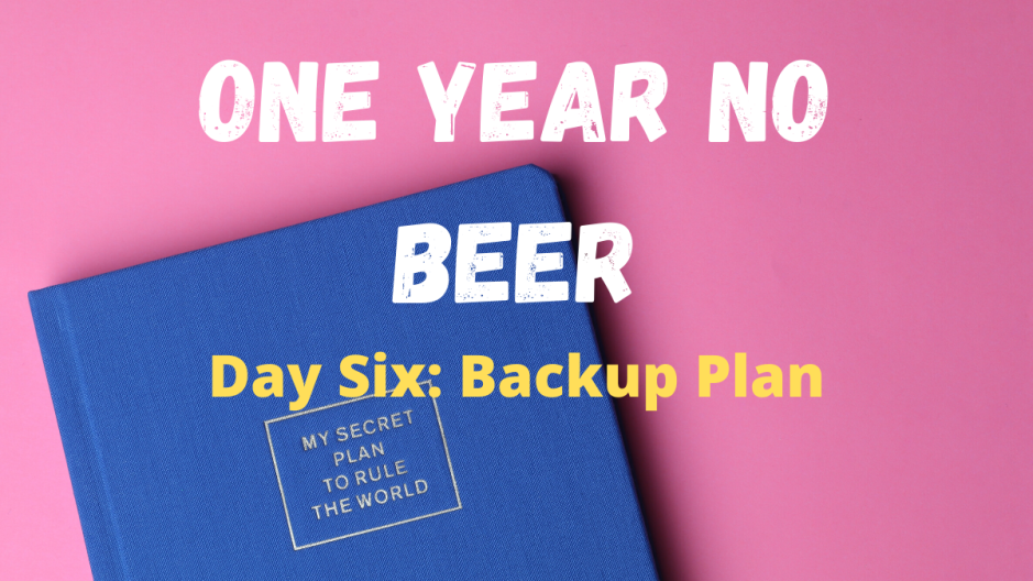 ONE YEAR NO BEER BACKUP PLAN